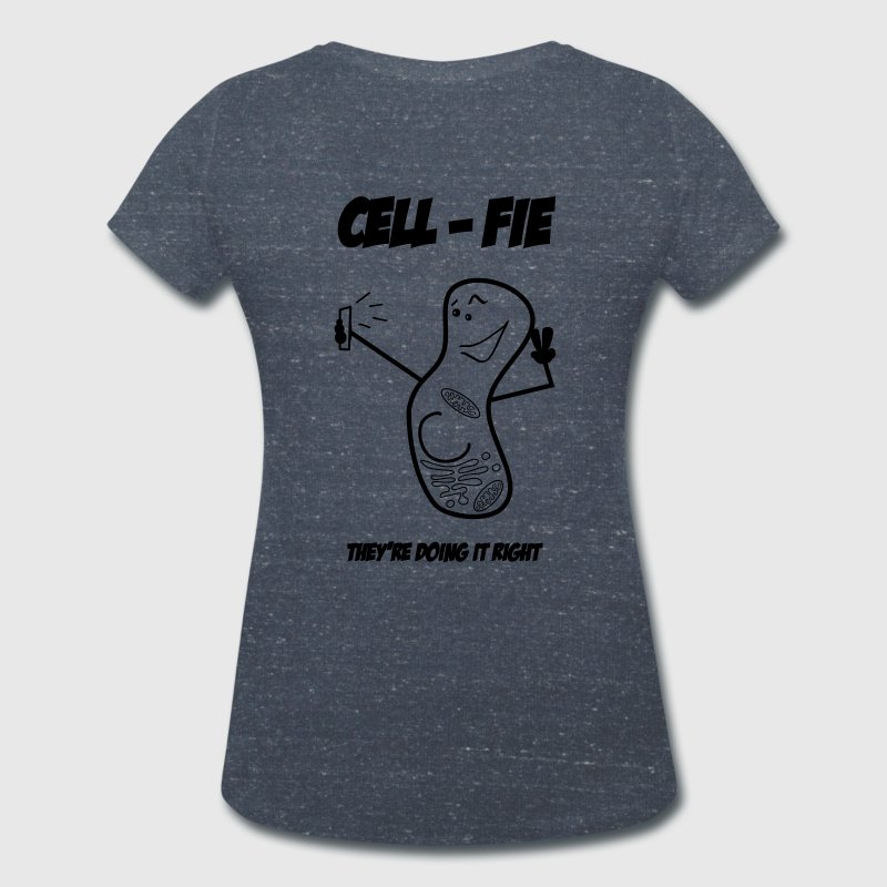 Cell-Fie T-Shirts - Women's Organic V-Neck T-Shirt by Stanley & Stella