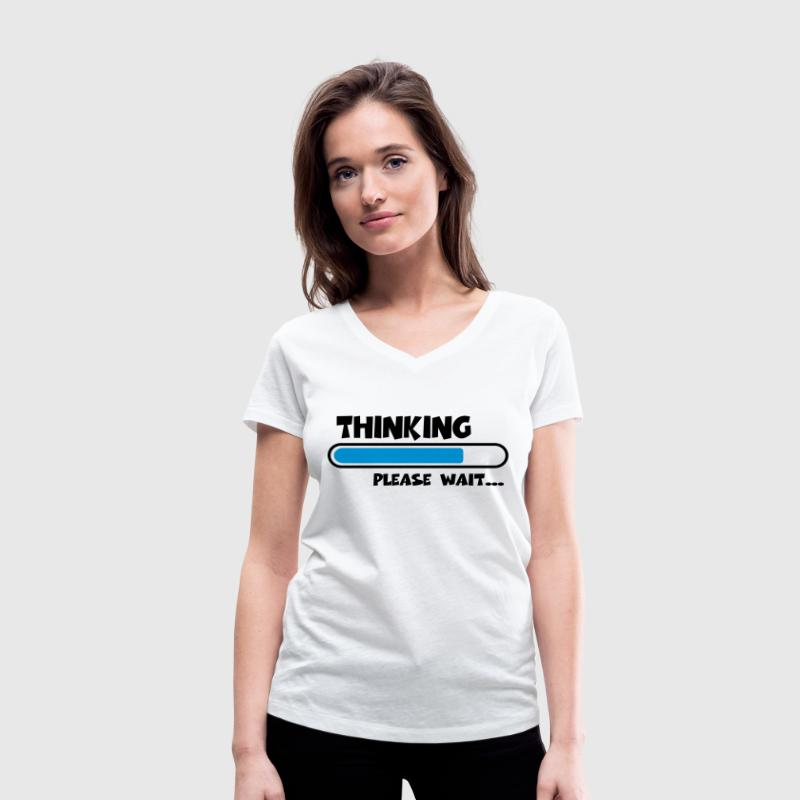 Thinking….please wait... Tee shirts - T-shirt bio col V Stanley & Stella Femme