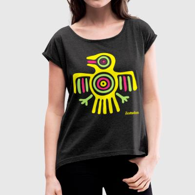 Maya Collection Francisco Evans ™ T-shirts - Vrouwen T-shirt met opgerolde mouwen