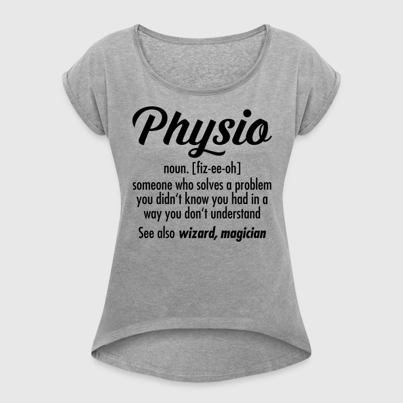 Physio Definition T-shirts - Dame T-shirt med rulleærmer