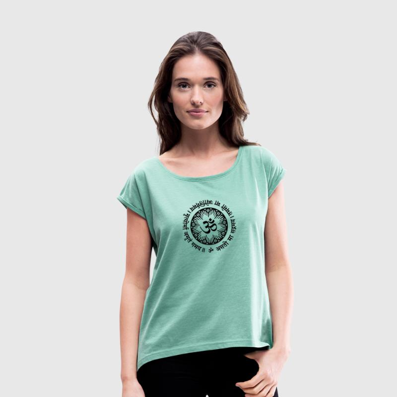Asato Ma Mantra T-Shirts - Women's T-shirt with rolled up sleeves