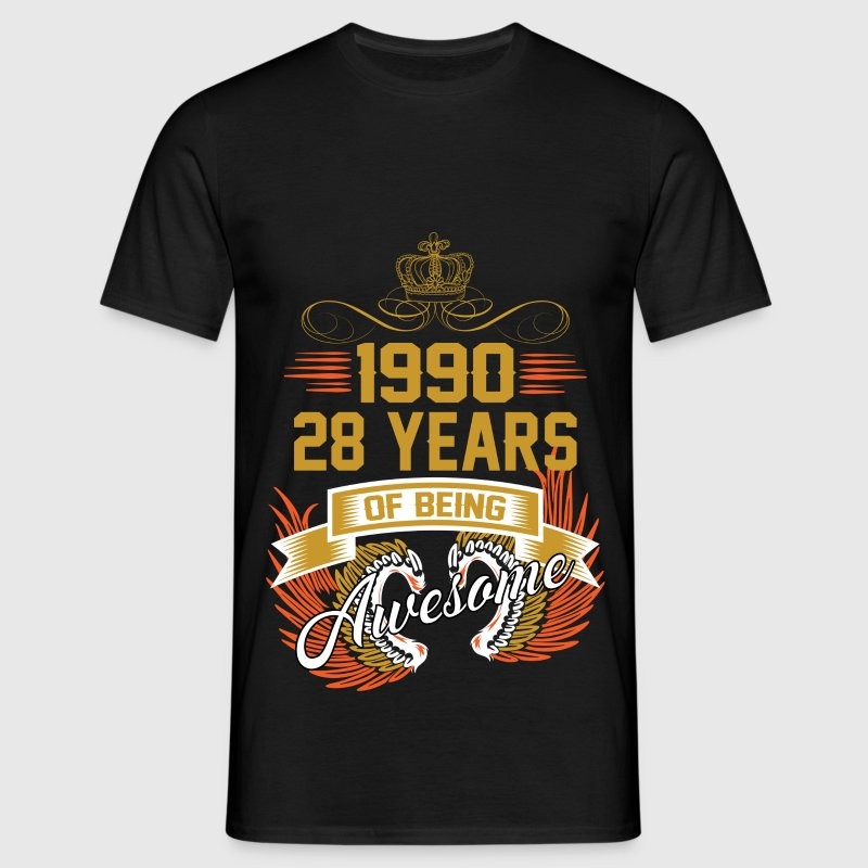 1990 28 Years Of Being Awesome T-Shirts - Men's T-Shirt