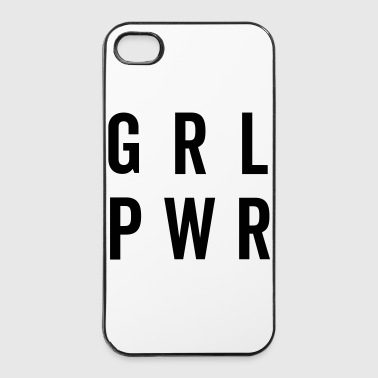 GRL PWR / Girl Power Quote Coques pour portable et tablette - Coque rigide iPhone 4/4s
