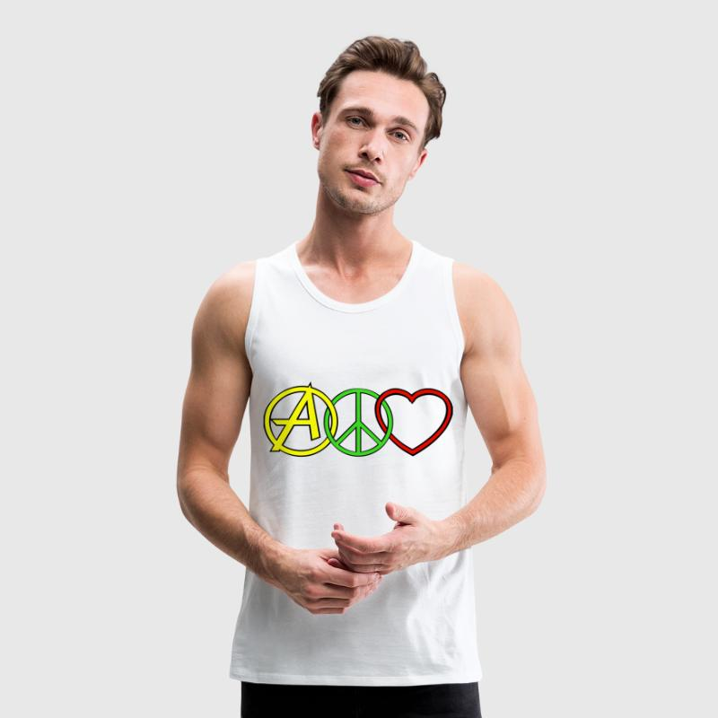 ANARCHY PEACE & LOVE  Vêtements de sport - Débardeur Premium Homme