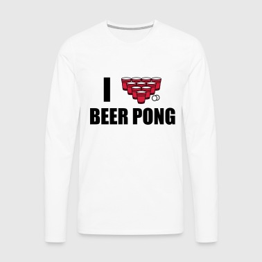I love beer pong T-Shirts - Men's Premium Longsleeve Shirt