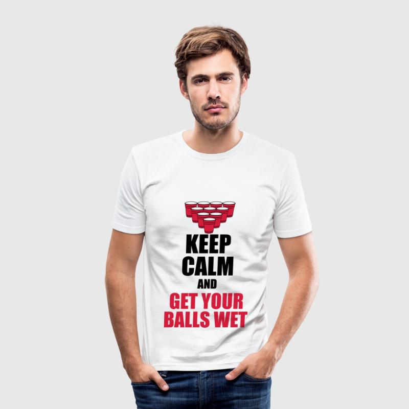 Keep calm and get your balls wet T-Shirts - Men's Slim Fit T-Shirt
