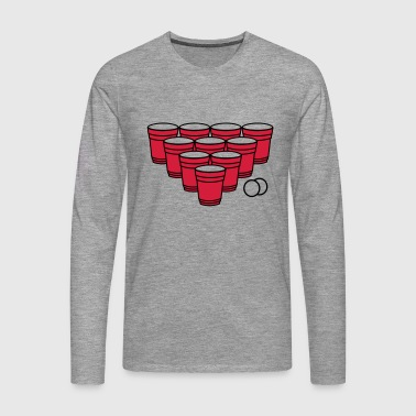 Beer Pong.eps T-Shirts - Men's Premium Longsleeve Shirt