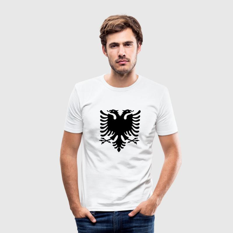 Shqiponja - Doppelkopf Adler T-Shirts - Men's Slim Fit T-Shirt