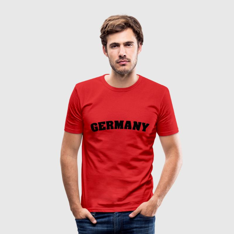 Red Germany T-Shirts - Men's Slim Fit T-Shirt