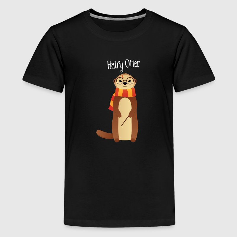 Hairy Otter - Cute Illustration Shirts - Teenage Premium T-Shirt