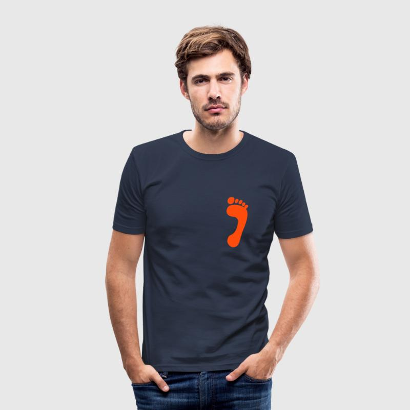 Dark navy foot, baby T-Shirts - Men's Slim Fit T-Shirt