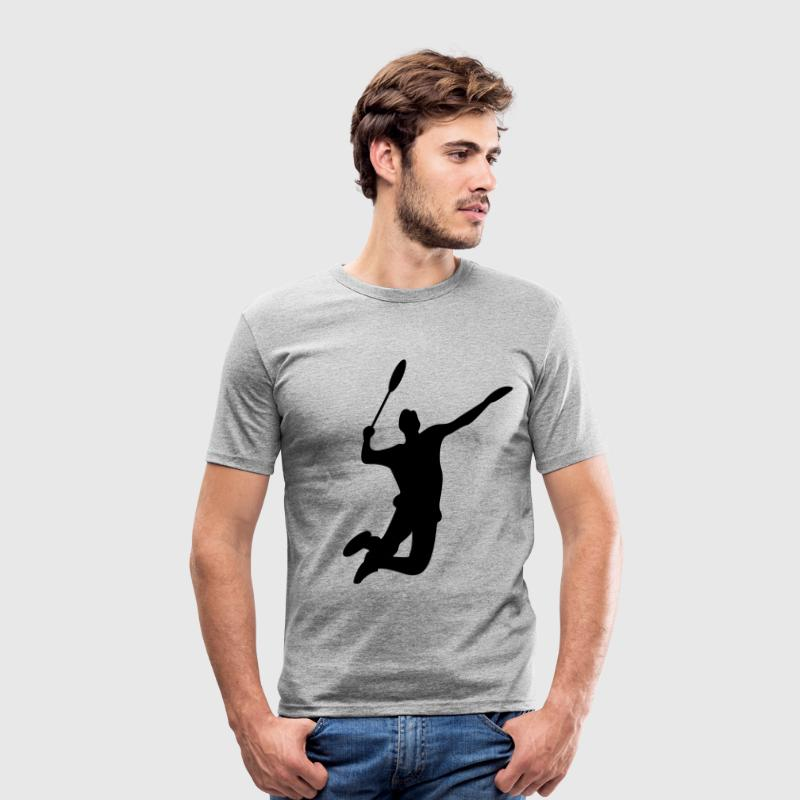 Badminton Men's T-shirt - Men's Slim Fit T-Shirt