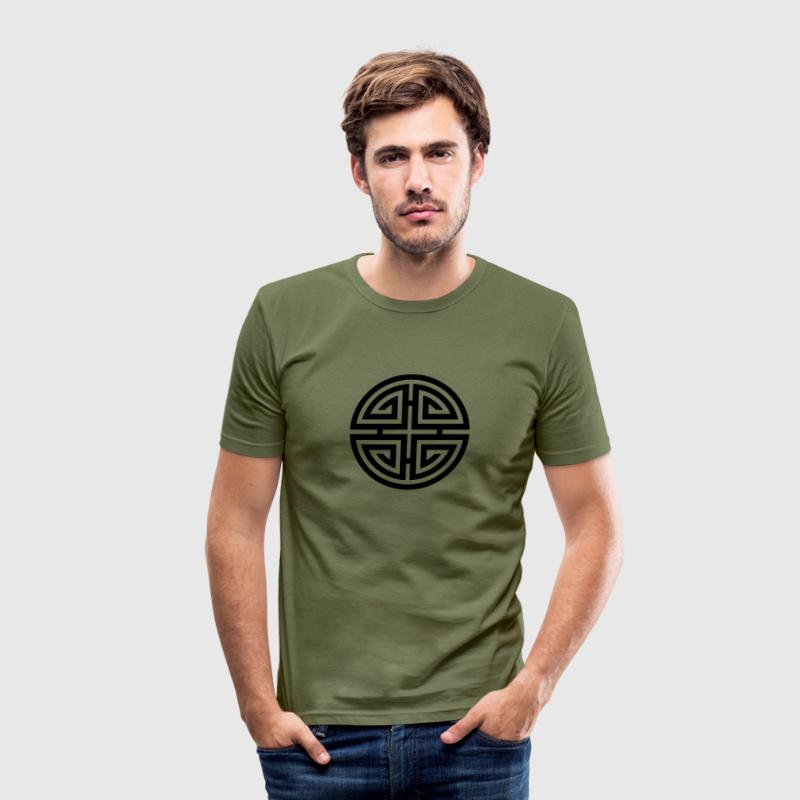 Four blessings, Chinese Good Luck Symbol, Charms Tee shirts - Tee shirt près du corps Homme