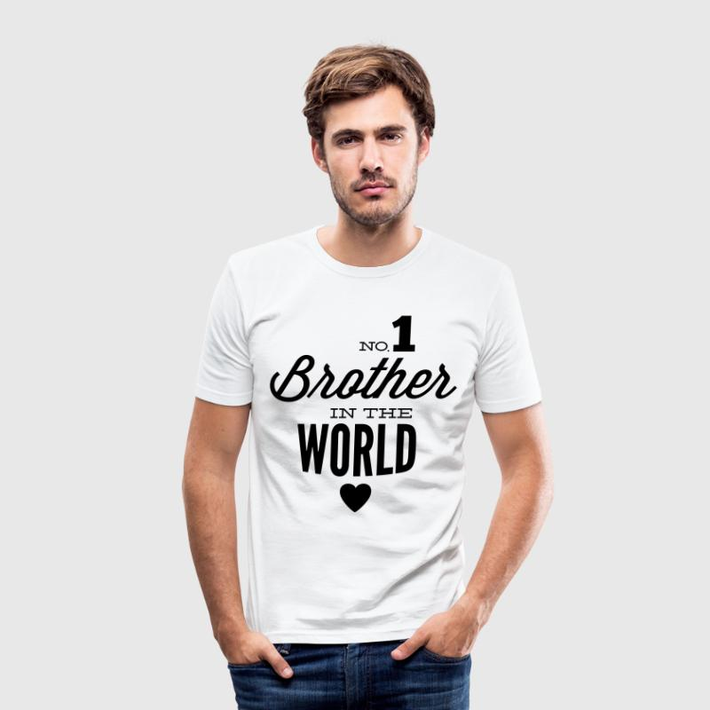 no1 brother of the world T-Shirts - Men's Slim Fit T-Shirt