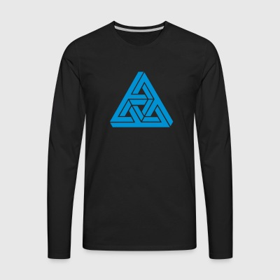 Impossible Triangle, optical illusion, Escher Camisetas - Camiseta de manga larga premium hombre