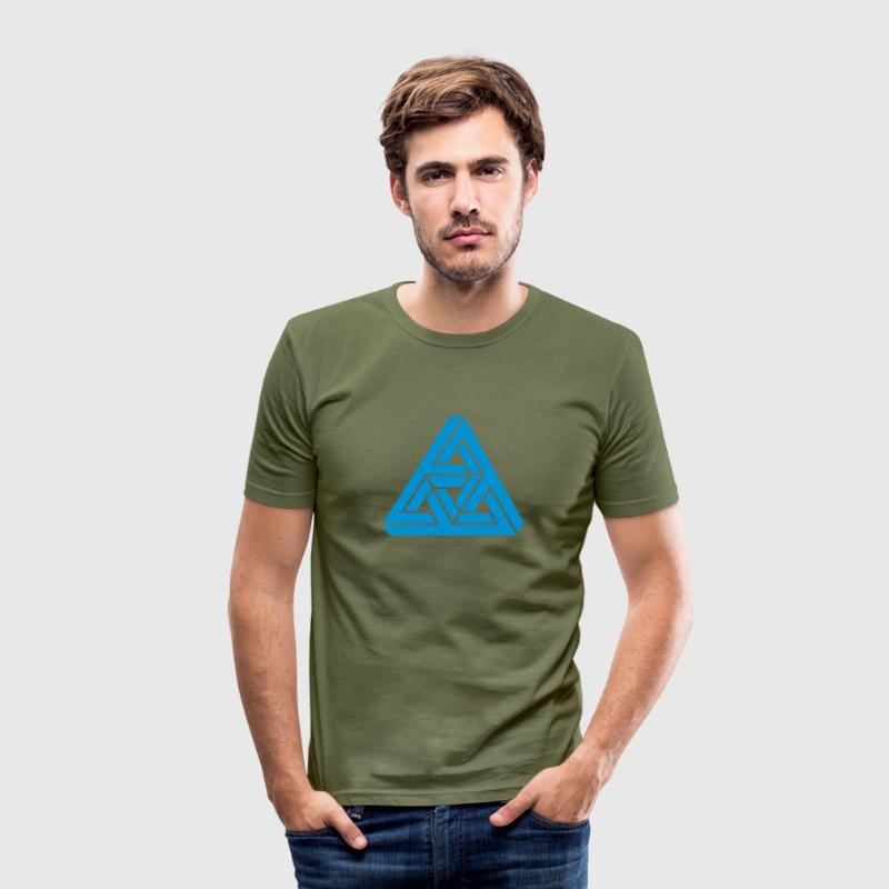 Impossible Triangle, optical illusion, Escher Tee shirts - Tee shirt près du corps Homme
