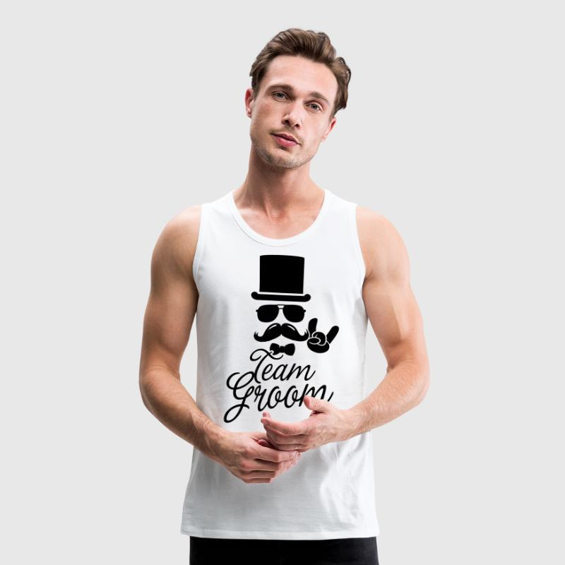 Groom Wedding Marriage Stag Hen Night 4 Bachelor T-Shirts - Men's Premium Tank Top