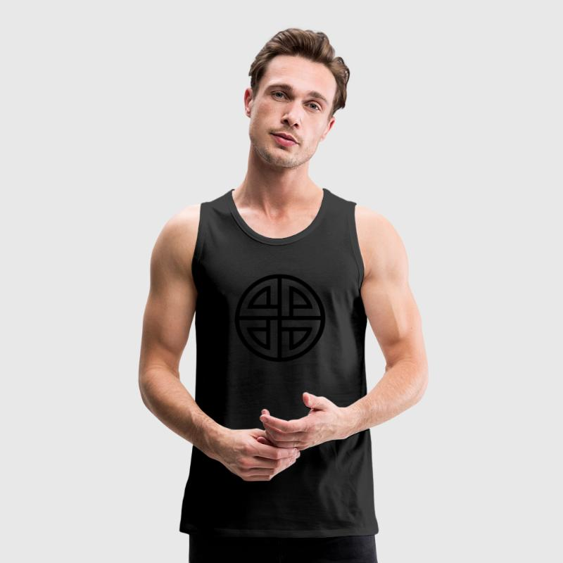 Celtic Shield Knot, Germanic, Protection, Amulet, T-shirts - Premiumtanktopp herr