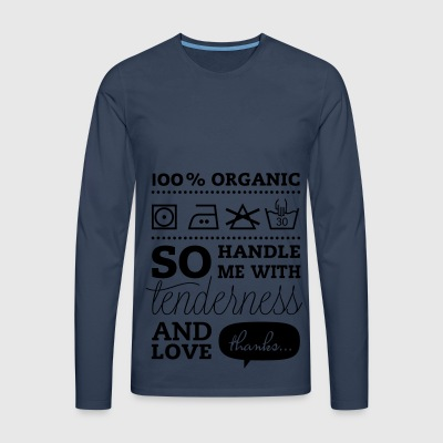 Typographic Laundry Tag TLC  Tops - Men's Premium Longsleeve Shirt