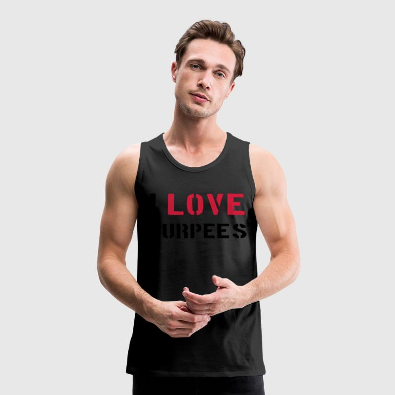 I Love Burpees T-shirts - Mannen Premium tank top