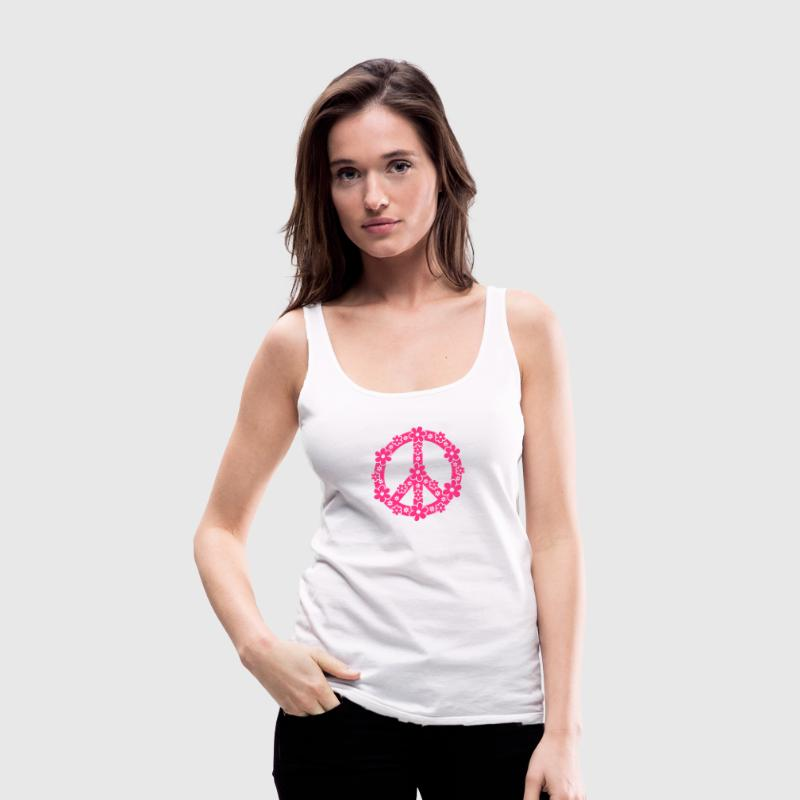 PEACE SYMBOL - peace sign, c, symbol of freedom, flower power, hippie, 68er movement, Woodstock Tops - Women's Premium Tank Top
