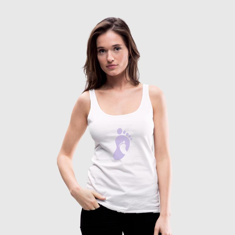 baby footsteps Tops - Women's Premium Tank Top
