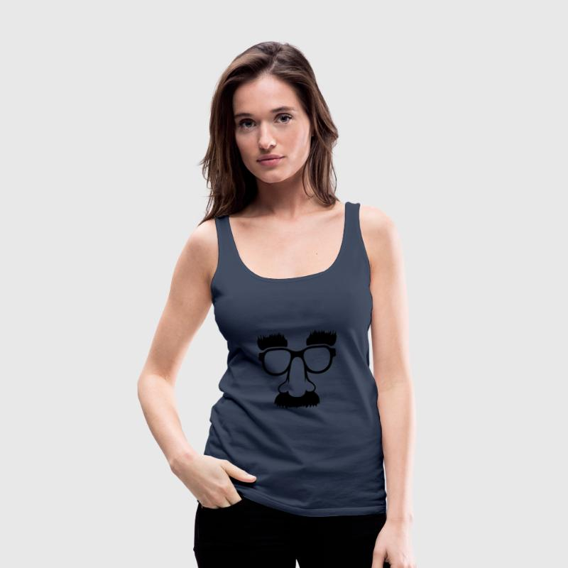 Groucho mask - Nerd Brille Tops - Frauen Premium Tank Top