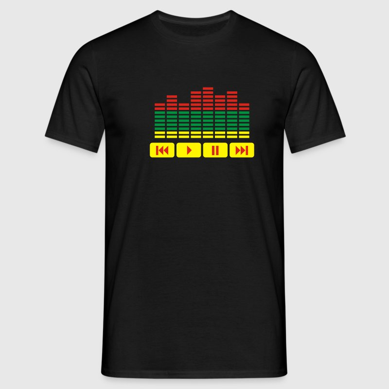 Black Equalizer DJ music player Men's T-Shirts - Men's T-Shirt