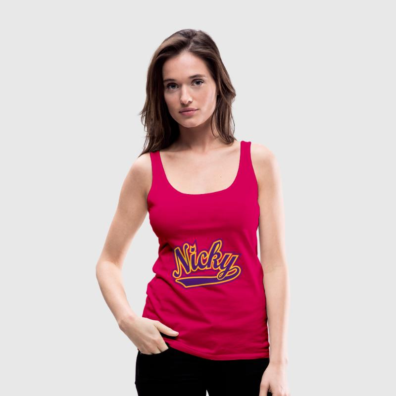 Nicky - T-shirt personalised with your name Tops - Women's Premium Tank Top