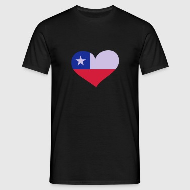 Chile Herz; Heart Chile Vêtements de sport - T-shirt Homme