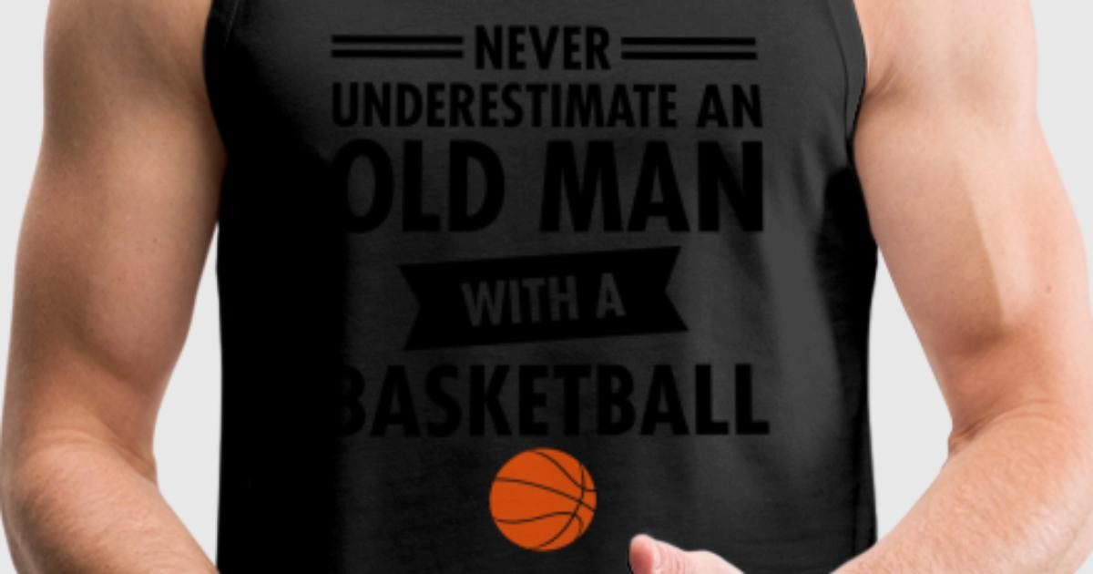 Tank top old man basketball spreadshirt for Old school basketball t shirts