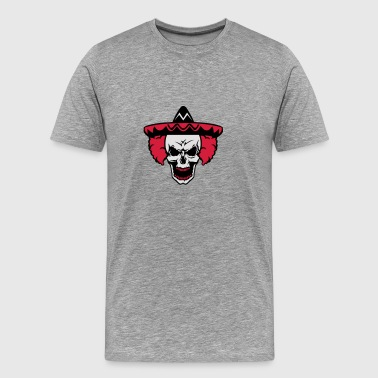 Skull clown hat mexican 5 Sports wear - Men's Premium T-Shirt