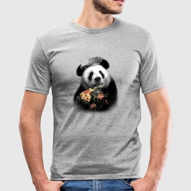 Pizza Panda - Men's Slim Fit T-Shirt