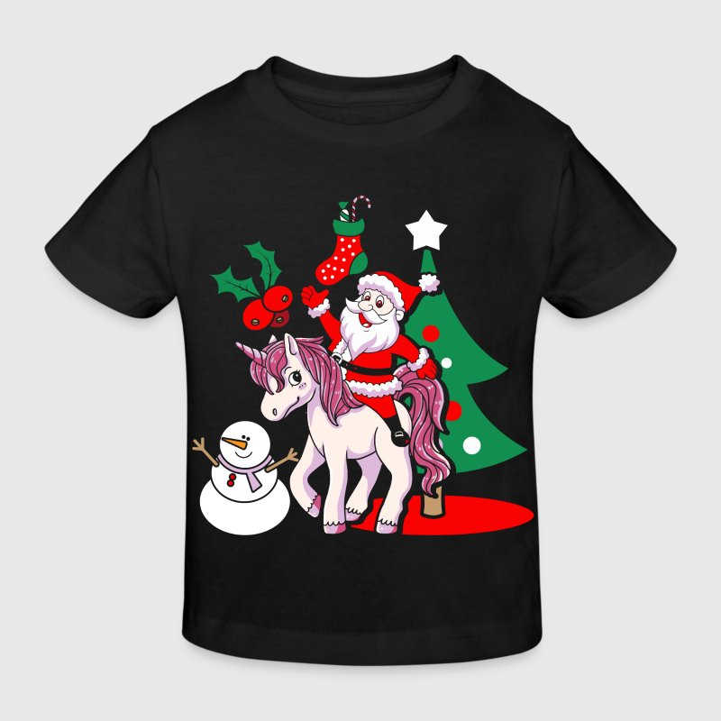 tee shirt cadeau de no l de santa claus santa licorne spreadshirt. Black Bedroom Furniture Sets. Home Design Ideas