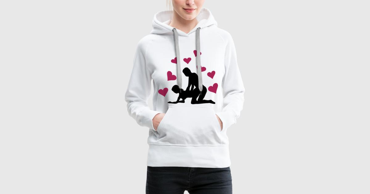 sex valentinstag stellung von hinten mit herzen hoodie spreadshirt. Black Bedroom Furniture Sets. Home Design Ideas