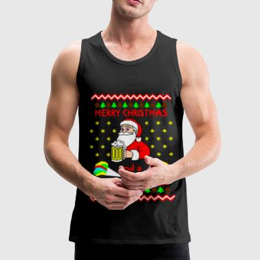 Merry Xmas Happy new Beer Ugly Christmas Sweater Abbigliamento sportivo - Canotta premium da uomo