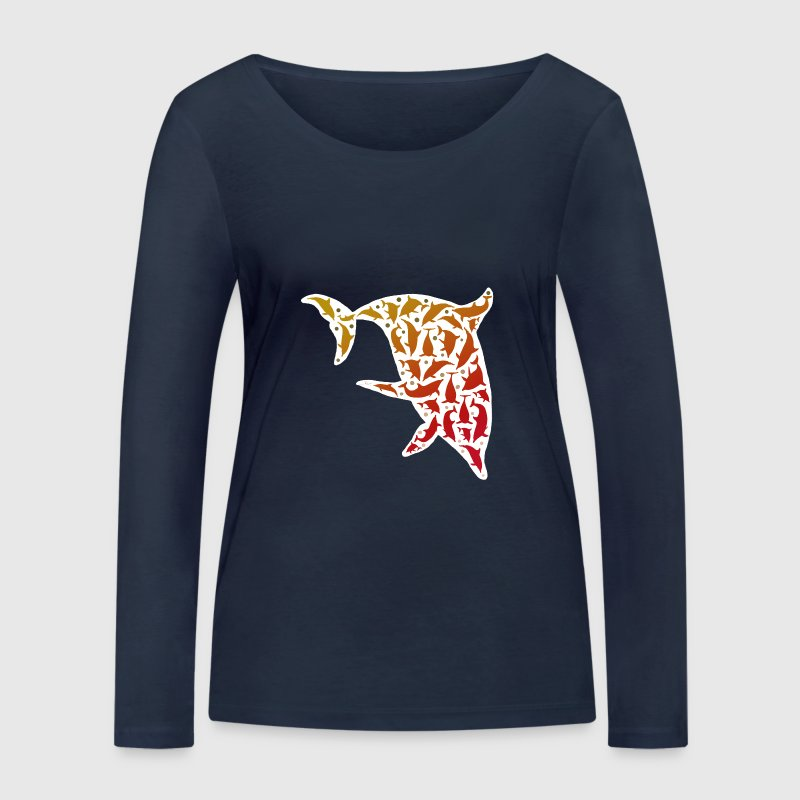 Dolphins in a Dolphin / Delfine im Delfin weiß 3 Long Sleeve Shirts - Women's Organic Longsleeve Shirt by Stanley & Stella