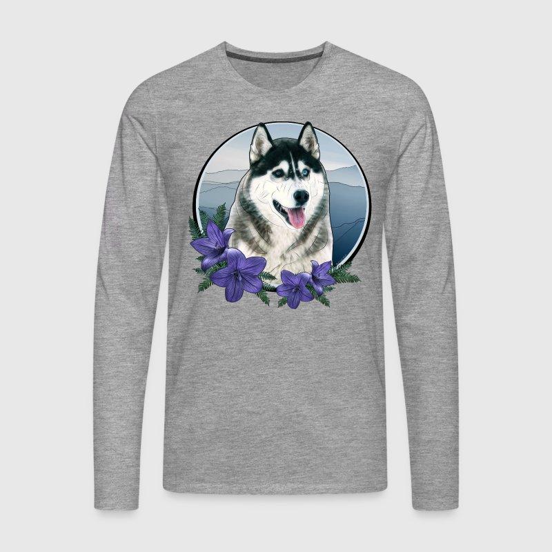 husky graphic style m nner premium langarmshirt langarmshirt spreadshirt. Black Bedroom Furniture Sets. Home Design Ideas