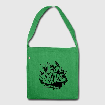 Green Mauersegler / swifts (1c)  Aprons - Shoulder Bag made from recycled material