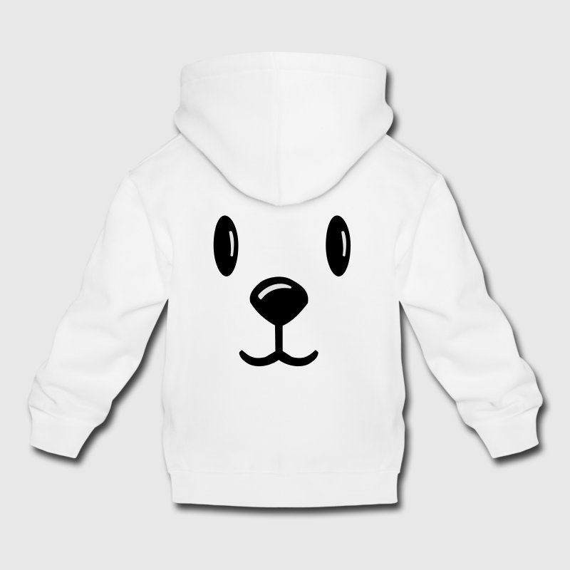 Gris clair chiné teddybär teddy bärchen teddy bear  Sweats Enfants - Pull à capuche Premium Enfant