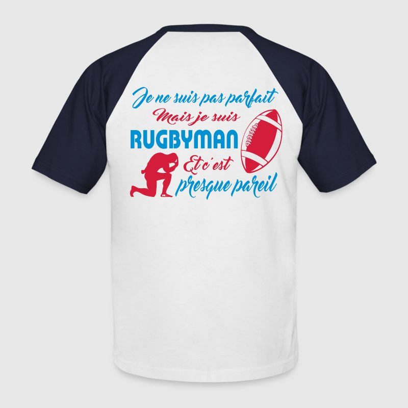 rugbyman - T-shirt baseball manches courtes Homme