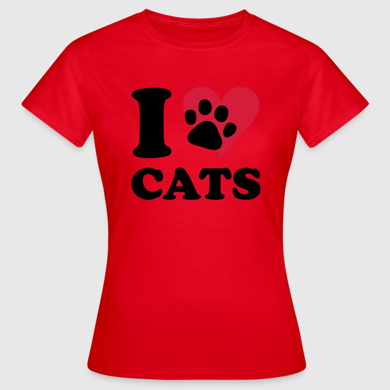Rouge chat - I love cats T-shirts - T-shirt Femme