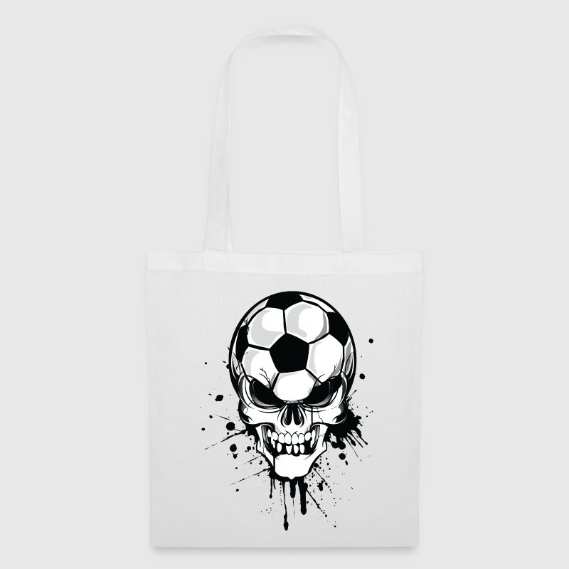 White soccer skull kicker ball football pirat Bags  - Tote Bag