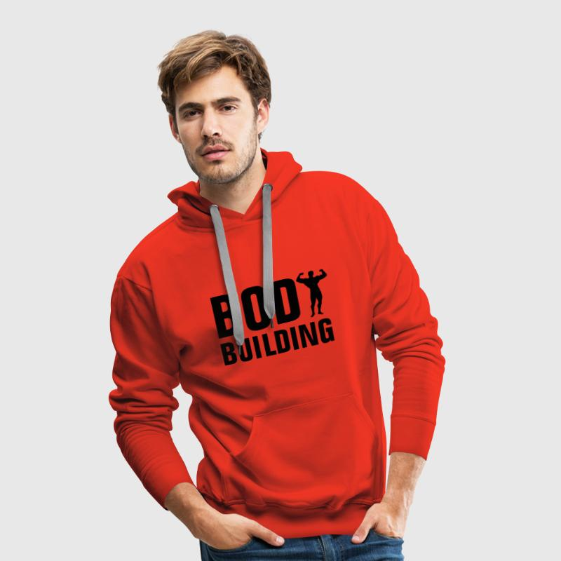 bodybuilding_1c Sweat-shirts - Sweat-shirt à capuche Premium pour hommes