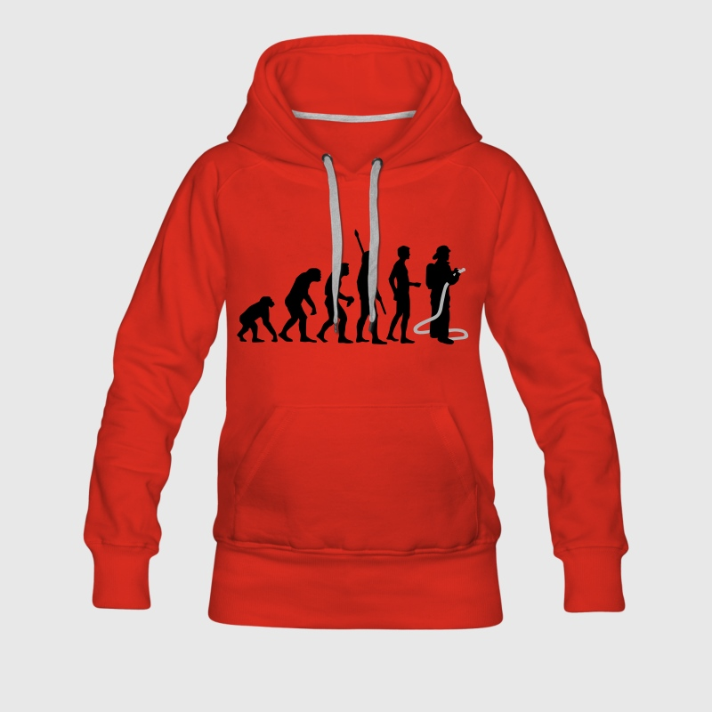 Red evolution firefighter Hoodies & Sweatshirts - Women's Premium Hoodie