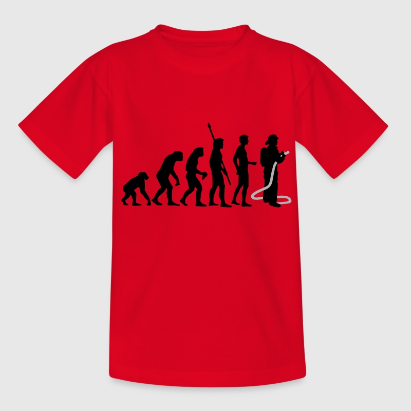 Red evolution firefighter Kids' Shirts - Teenage T-shirt