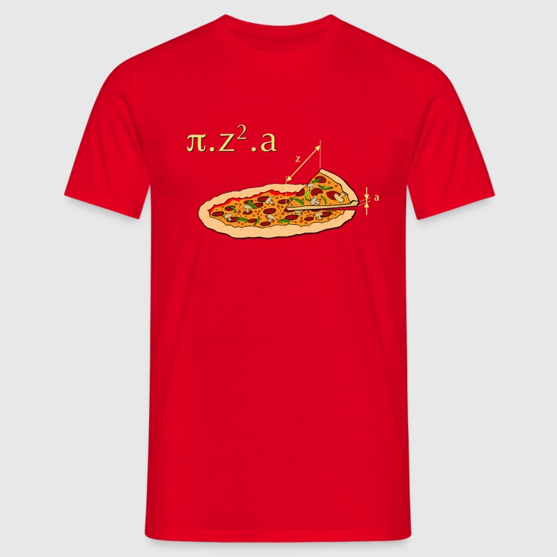 Rouge Pizza T-shirts - T-shirt Homme