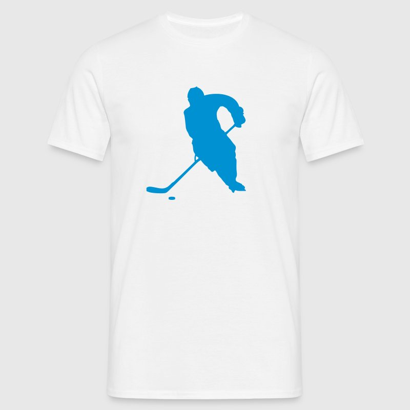 Blanc hockey sur glace T-shirts - T-shirt Homme