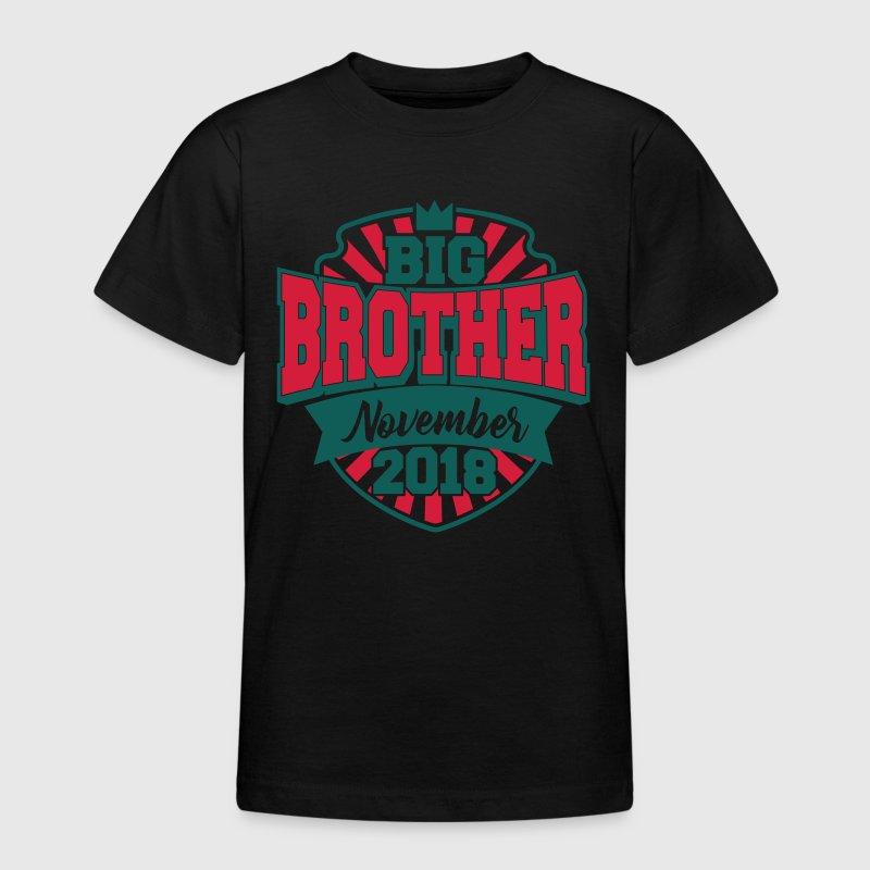 big brother november 2018 gro er bruder 2018 baby t shirt. Black Bedroom Furniture Sets. Home Design Ideas