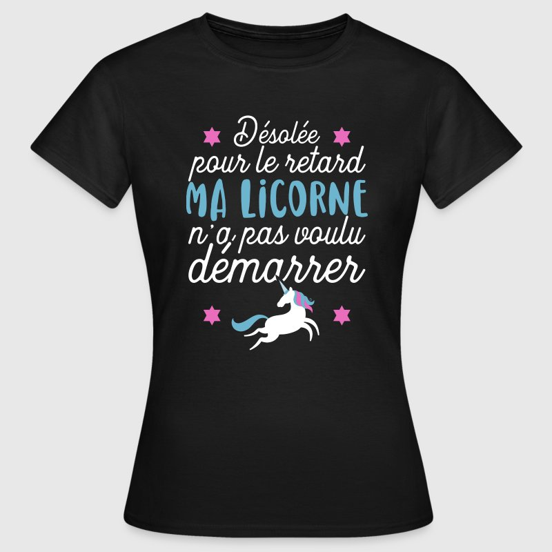 tee shirt licorne d marre pas t shirt drole spreadshirt. Black Bedroom Furniture Sets. Home Design Ideas